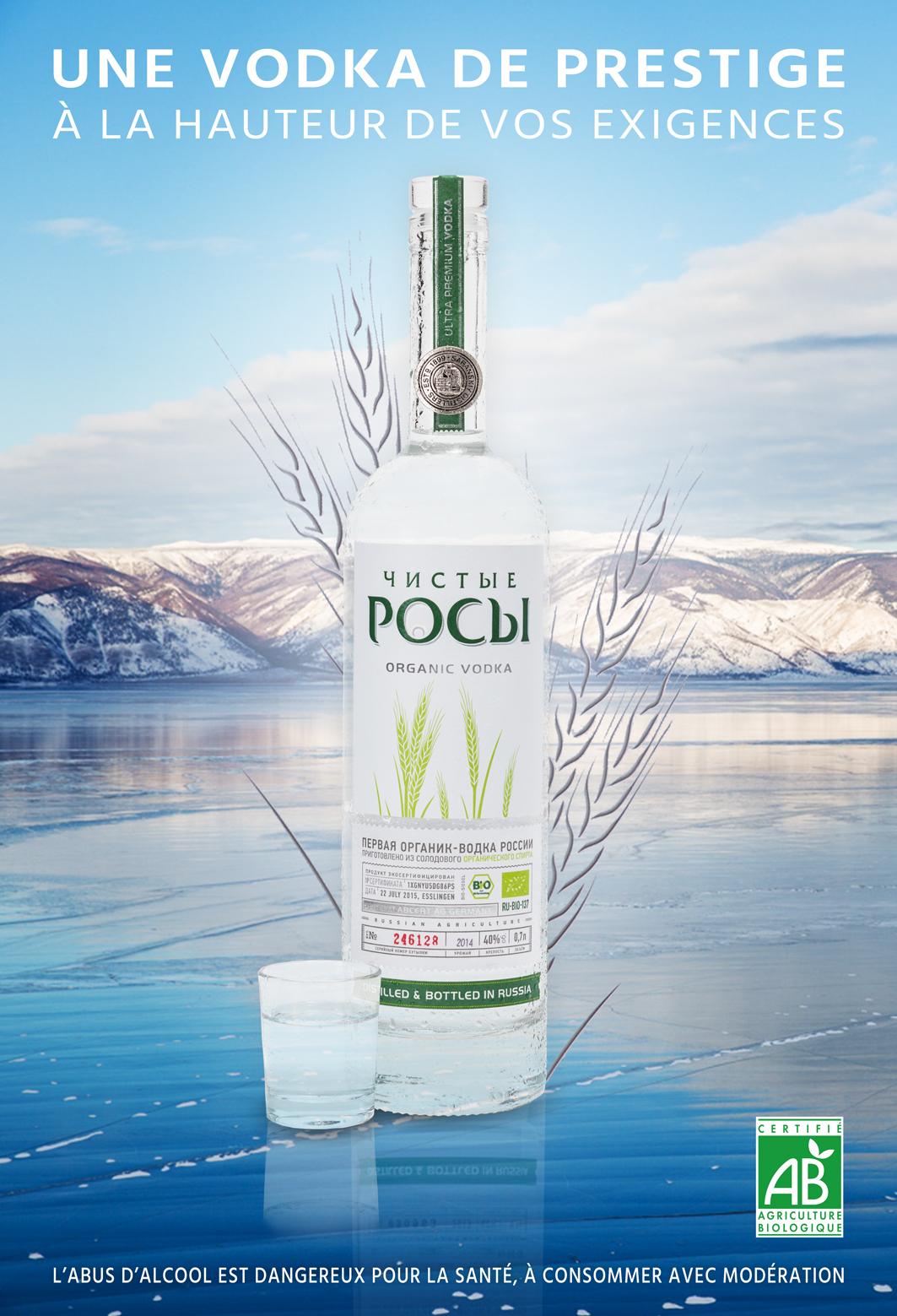 Création d'une affiche publicitaire de Vodka