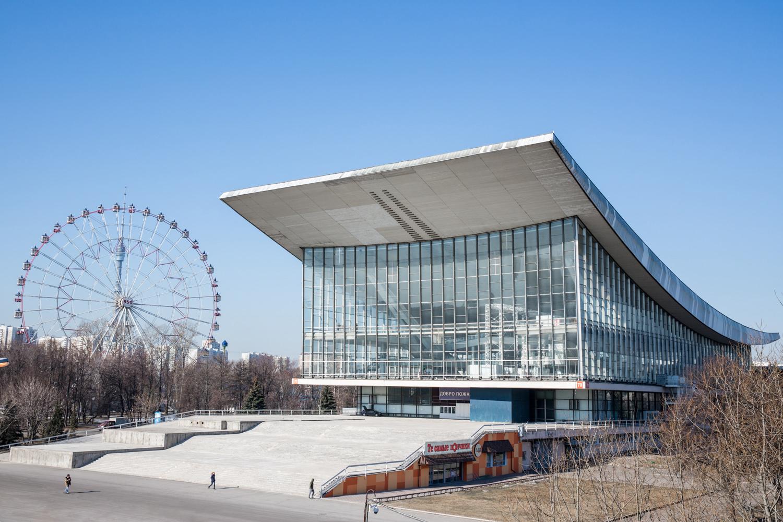Photographie d'architecture d'un bâtiment du VDNKh à Moscou
