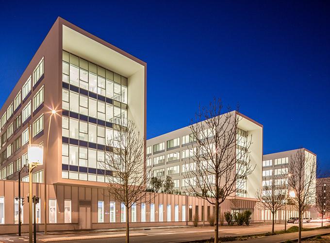 Photographie Bâtiment Façade Nuit Safran Design Toulouse Architecture