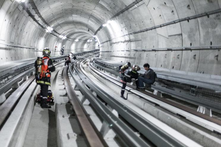 Pompier intervention tunnel métro Toulouse