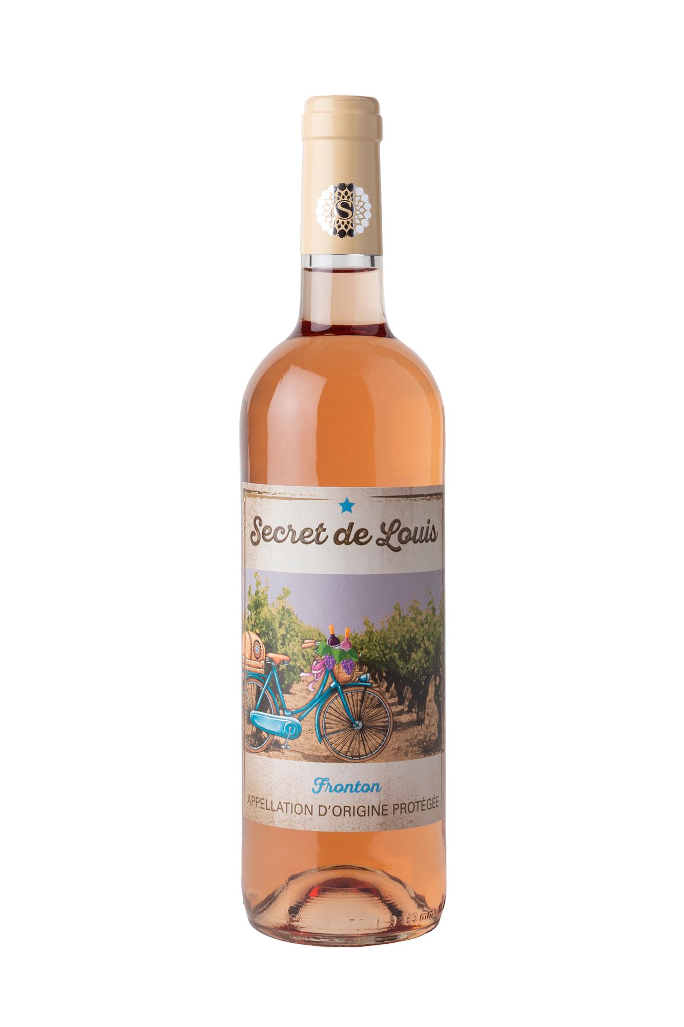 Packshot d'une bouteille de vin rosé de Fronton