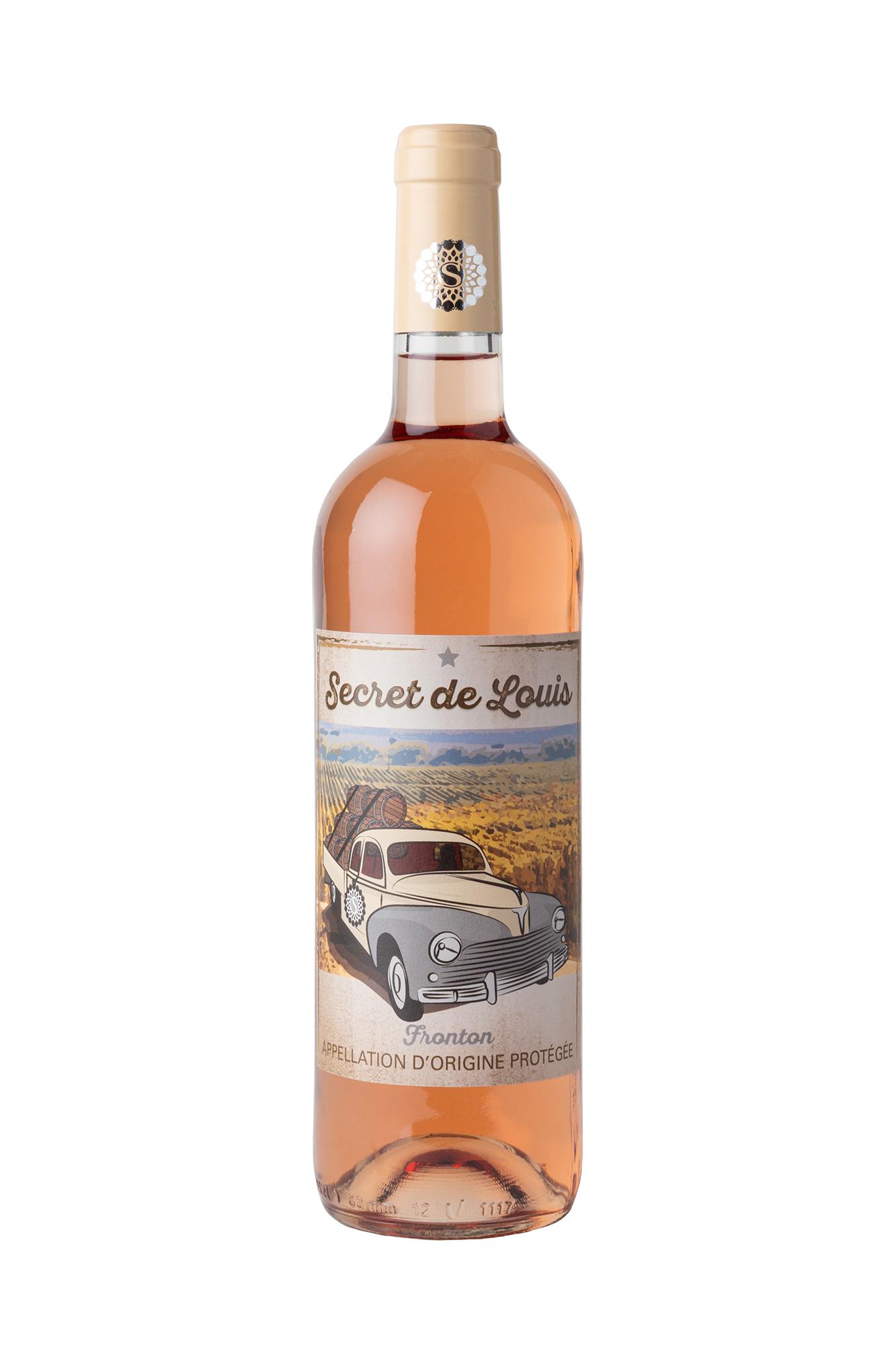 Photographie sur fond blanc et détourée d'une bouteille de rosé