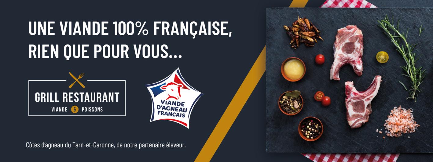 Création de l'affiche culinaire avec les photographies produits