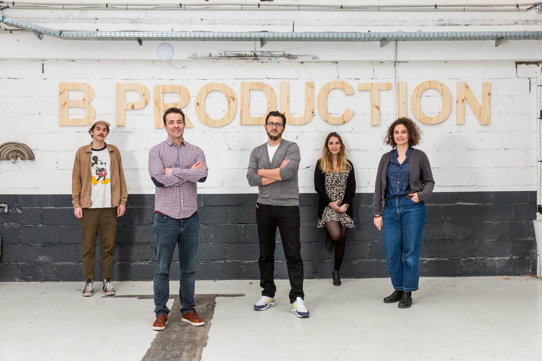 Photographie d'équipe de l'agence Bproduction