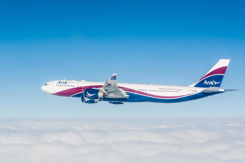 Vol de patrouille pour des photographies aériennes avec l'Airbus A330