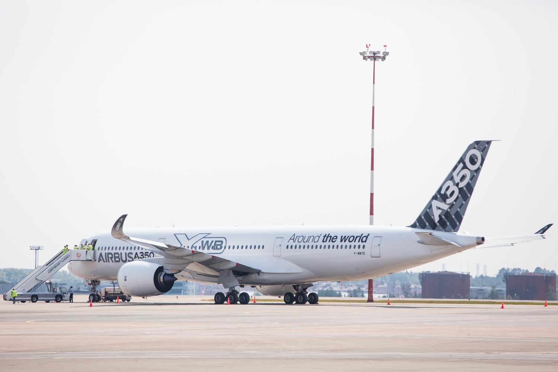 Photographie industrie - A350 avant son décollage