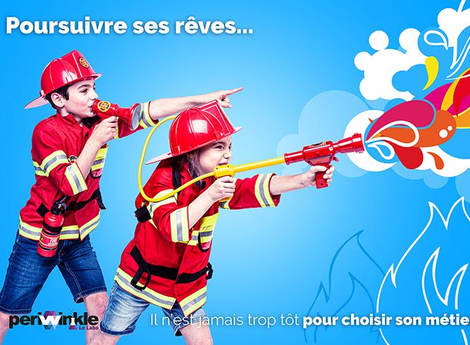 Montage Kids Pompier Image En Avant Projet