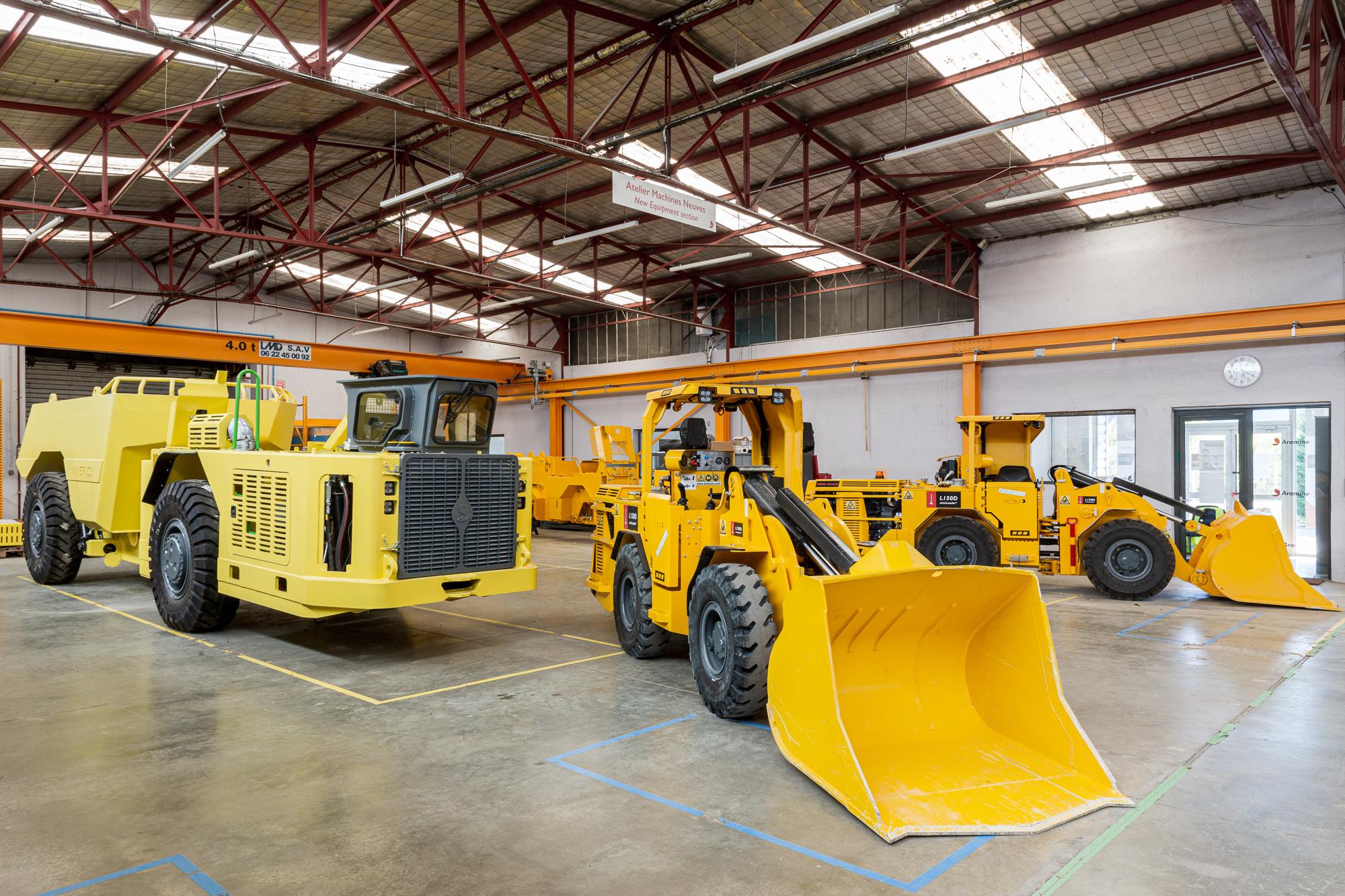 Photographie de plusieurs véhicules pour la communication d'entreprise d'Aramine