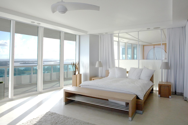 Chambre à coucher d'un appartement à Miami, FL