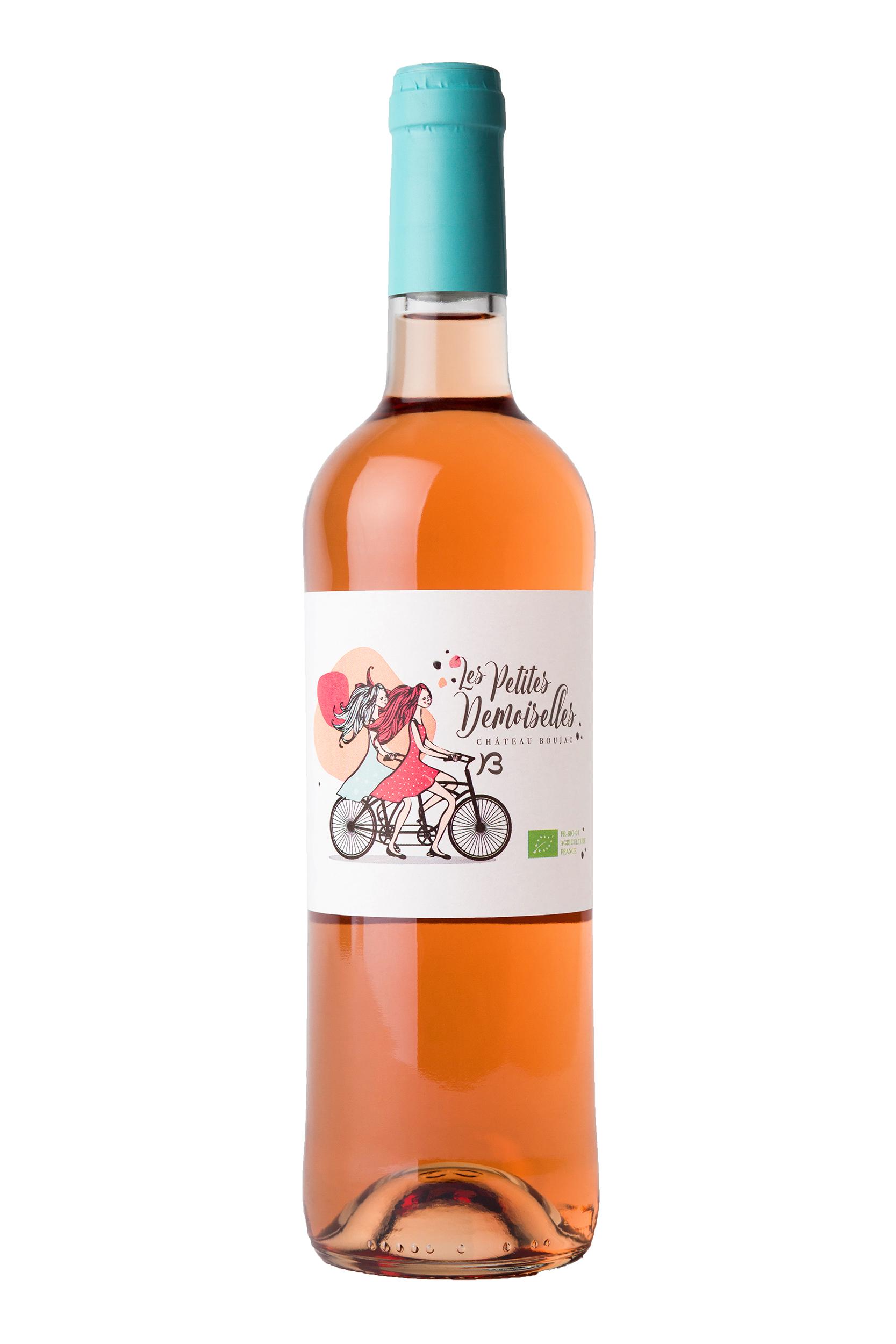 Vin rosé petite demoiselle pour les sites de vente en ligne