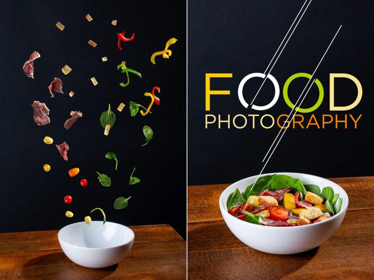 Montage photographique et graphique de la salade composé