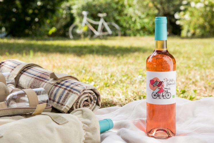 publicité vin rosée pique nique vélo