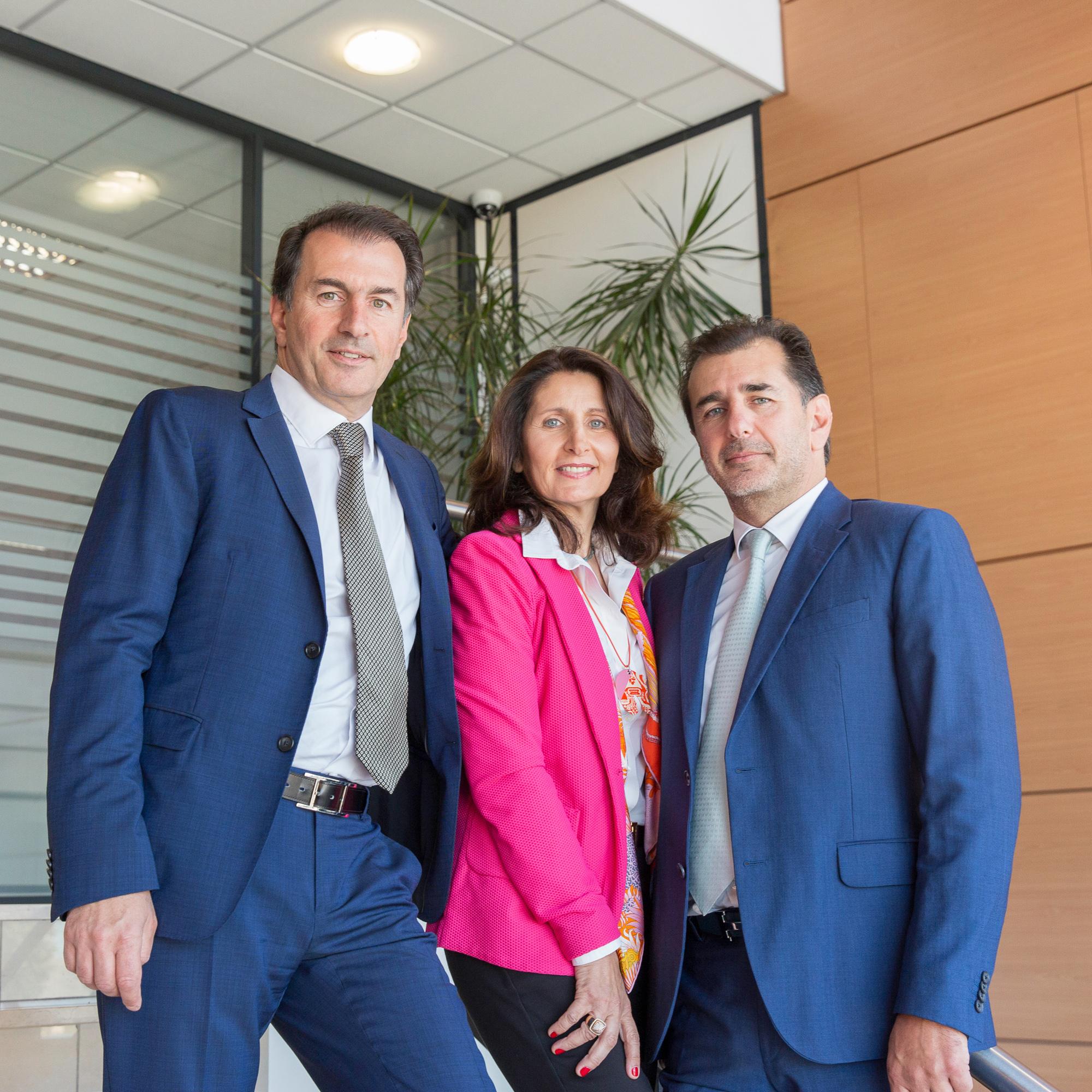 Les dirigeants d'Aramine en photo pour leur communication d'entreprise