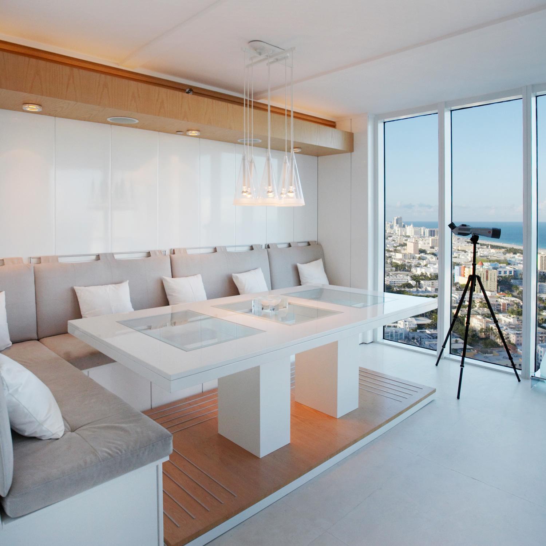 Intérieur d'un appartement à Miami, FL.